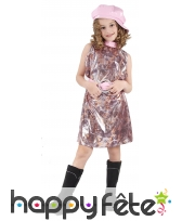 Costume disco reptile multicolore pour fillette