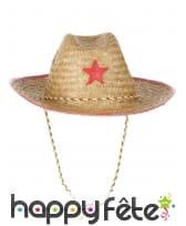 Chapeau de shérif en paille pour enfant, image 1