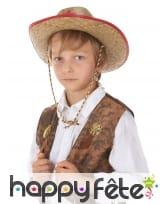 Chapeau de shérif en paille pour enfant, image 2