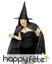 Chapeau de sorciere adulte avec cape et nez, image 1