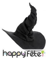 Chapeau de sorcière noir effet velours