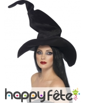 Chapeau de sorciere noir en velours, image 1