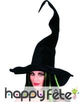 Chapeau de sorciere noir en velours