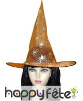 Chapeau de sorciere orange
