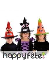 Chapeau de sorcière rigolot pour enfant