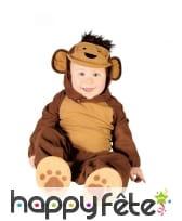 Combinaison de singe avec coiffe pour bébé