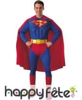 Combinaison de superman musclé pour adulte