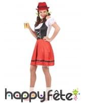 Costume de serveuse bavaroise noire et rouge, image 1