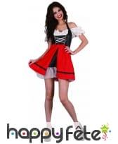 Costume de serveuse bavaroise noire et rouge, image 3