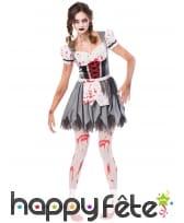 Costume de serveuse bavaroise zombie