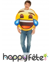 Costume de smiley pleure de rire pour adulte