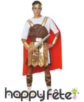 Costume de soldat romain avec cape rouge