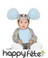 Costume de souris avec coiffe et chaussons, bébé