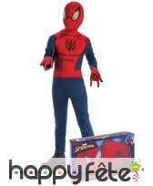 Costume de Spiderman et gants pour enfant, coffret