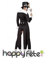 Costume de squelette Madame Loyal noir et blanc, image 1