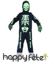 Costume de squelette vert pour enfant