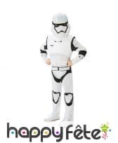 Costume de stormtrooper luxe pour enfant