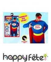 Costume de super héro personnalisable pour homme