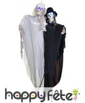 Couple de squelette lumineux à suspendre