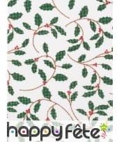 Chemin de table de Noël feuilles de Houx 4m, image 1