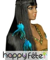 Collier de tête Indien plumes et perles, image 1