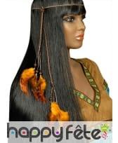 Collier de tête Indien plumes et perles, image 2