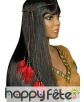 Collier de tête Indien plumes et perles, image 3