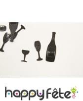 Confettis de table bouteille de bulle et verre, image 3