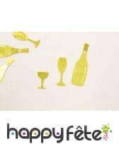 Confettis de table bouteille de bulle et verre, image 4