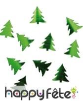 Confettis de table en forme de sapin vert, image 2