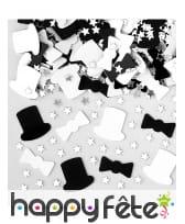Confettis de table noirs et blancs années 20, image 2