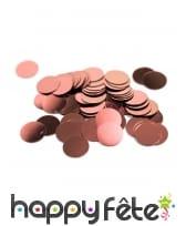 Confettis de table rose doré de 1,2cm, 10gr