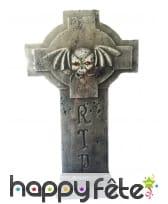 Croix de tombe RIP yeux lumineux, 60cm