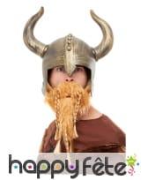 Casque de viking avec barbe pour homme