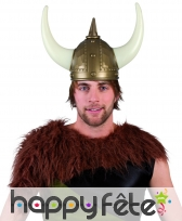 Casque de viking avec grandes cornes pour adulte, image 1
