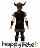 Costume de viking noir pour enfant, image 1