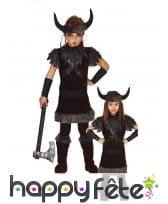 Costume de viking noir pour enfant