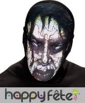 Cagoule de zombie en tissu
