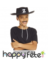 Chapeau de Zorro pour petit garçon