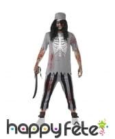 Costume de zombie pirate pour homme
