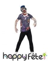 Costume étudiant américain zombie adulte