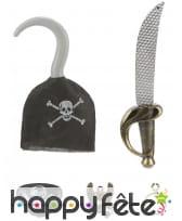 Crochet et accessoires de pirate pour enfant