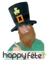Chapeau et barbe leprechaun, image 1