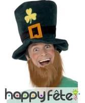 Chapeau et barbe leprechaun