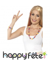 Collier et bracelet hippie multicolores