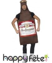 Costume en bouteille de bière