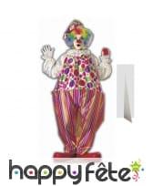 Clown en carton plat taille réelle