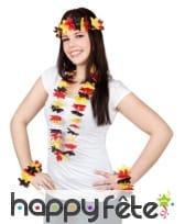 Couronne et collier Hawaïen drapeau Allemand