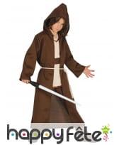 Costume enfant de Obi Wan kenobi avec capuche