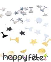 Confettis étoiles et coupes de 1cm